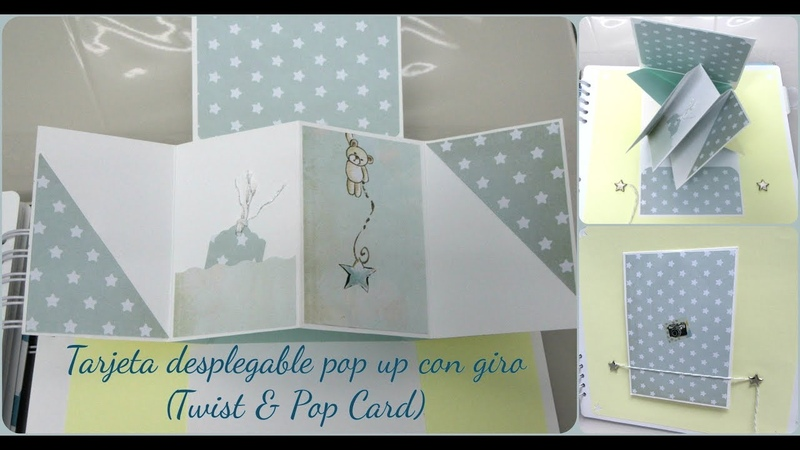 Tarjeta desplegable pop up con giro Twist Pop Card