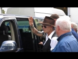 Paul McCartney, Kylie Minogue, Johnny Depp and Orlando Bloom seen leaving a secret Paul McCartney gig at Abbey Road Studios at L