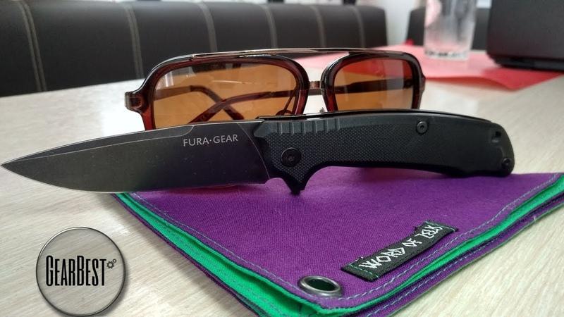 Нож Fura Gear D2 от Gearbest Fura Gear годный флипер за дешего Sekira Sochi