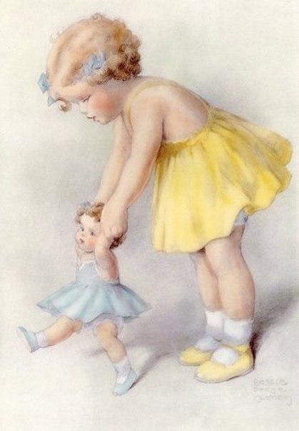 Винтажные картинки с детками