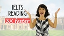IELTS Reading 3X faster | 7 TIPS on speed reading