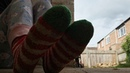 Extremely Well Worn Fluffy Dirty Socks Spitting Worn Used Dirty Smelly