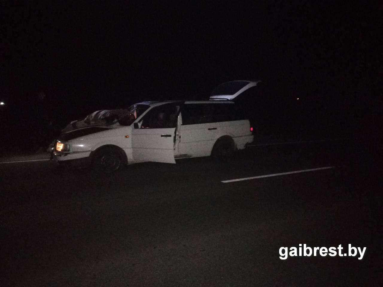 Каменецкий район: пьяный водитель сбил пешехода идущего посреди дороги