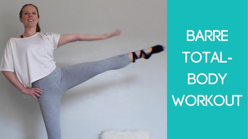At Home Barre Total Body Workout No Equipment or Barre Needed 20 Minutes