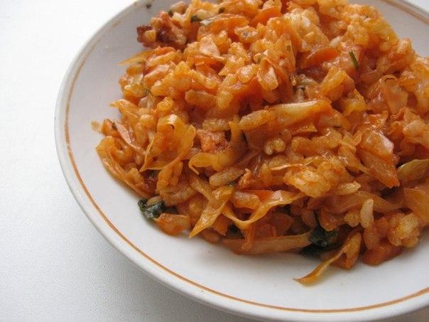 капуста с рисом и мясом