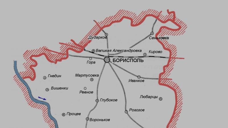 Карта Бориспольский район, Киевская область, Украина