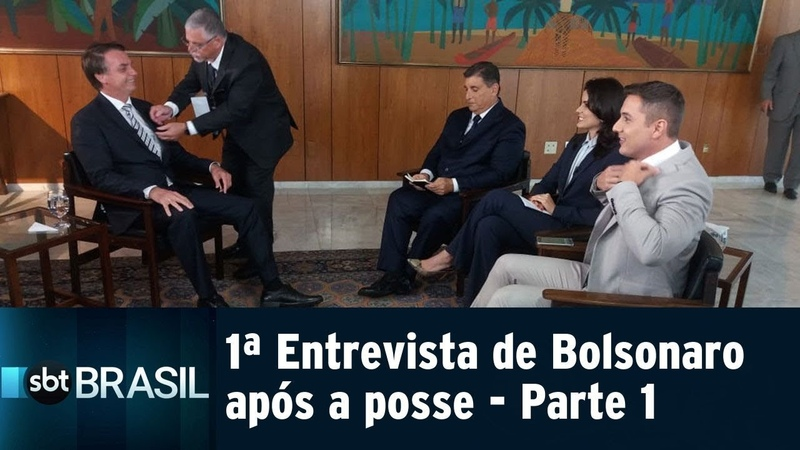Jair Bolsonaro concede ao SBT a primeira entrevista após posse - Parte 1 | SBT Brasil (03/01/18)
