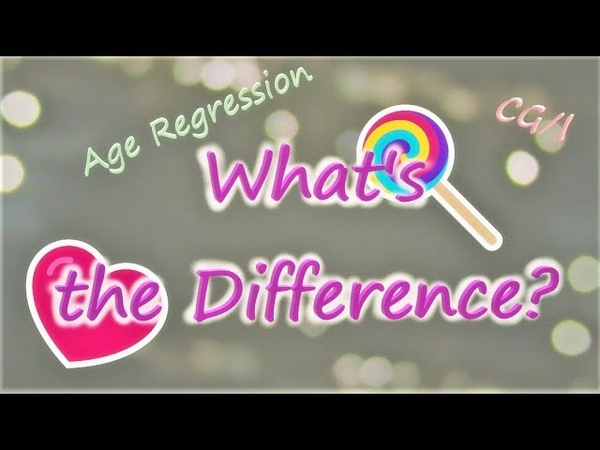 Age Regression vs CG L What's the Difference