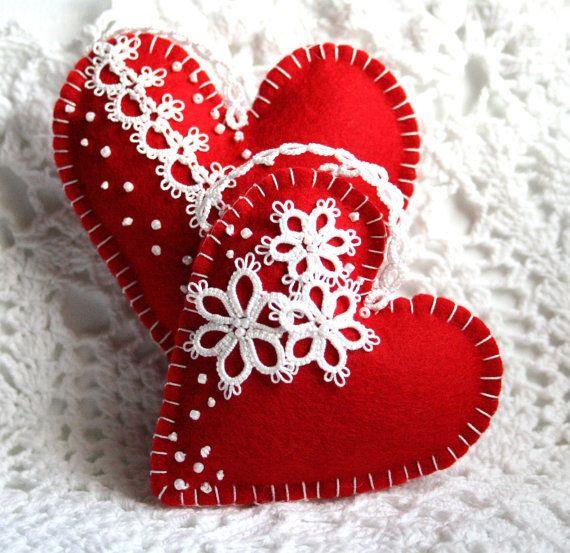 Сердечки из фетра (6 фото)