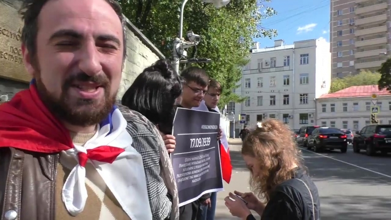 Акция солидарности с народом Польши