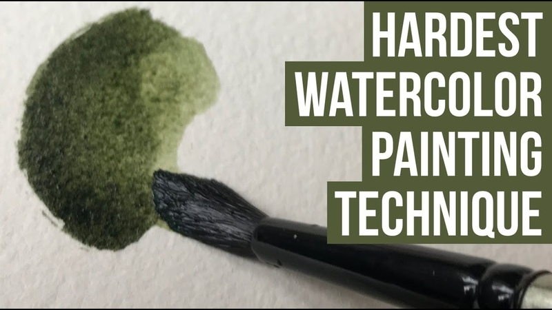 Watercolor Blending and Edge Control Technique Tutorial