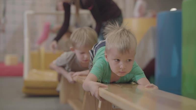 Тренировка младшей группы || Гимнастический батутный клуб OGO