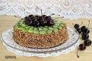 О... Торт из пряников со сметаной и фруктами готов.  2014. Райская пища.
