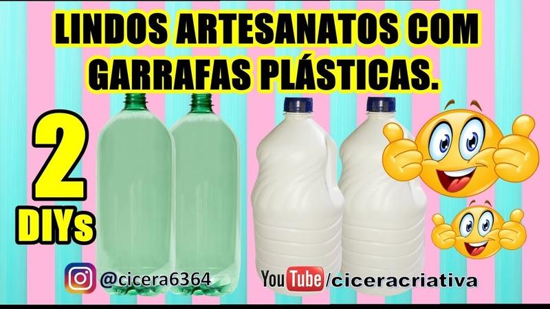 2 DIYs | Puxa sacos incríveis de garrafas plásticas | Cicera Criativa | Compilado