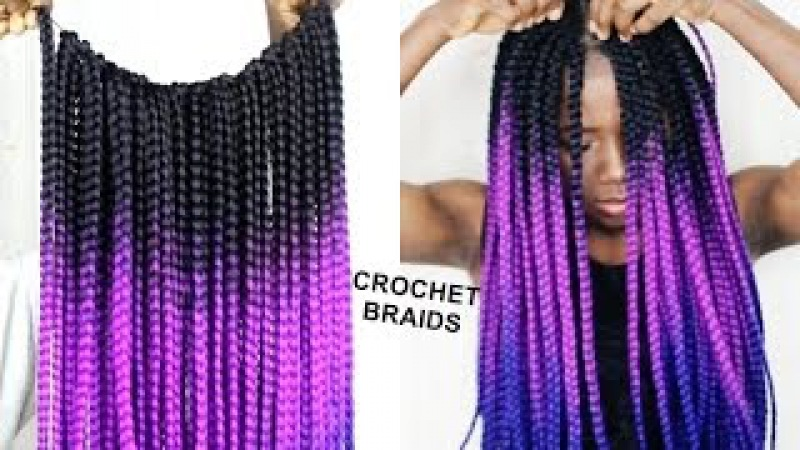 NO CORNROWS CROCHET BRAIDS- ON NATURAL HAIR ONLY 1 HOUR | Beginners Friendly