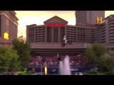 Travis Pastrana Honors Evel Knievel_ Caesars Fountain Jump