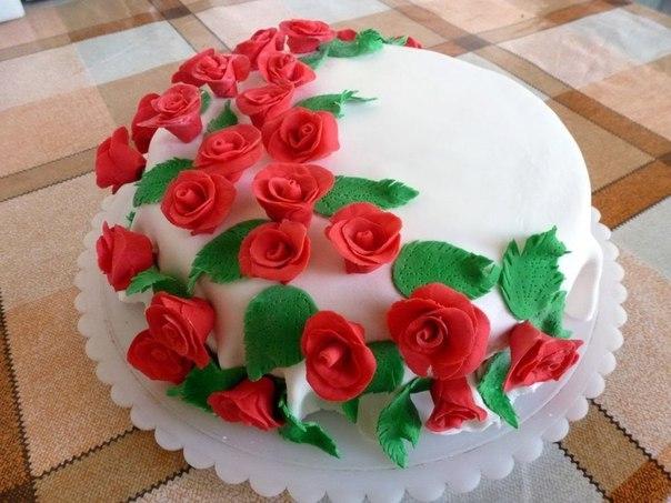 Украшаем торт мастикой фото