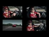 Kimi, Seb and Giovinazzi driving three Giulia Quadrifoglio