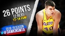 Ivica Zubac Full Highlights 2019.01.17 Lakers vs Thunder - 26 Pts, 12 Rebs, 12-14 FGM! | FreeDawkins