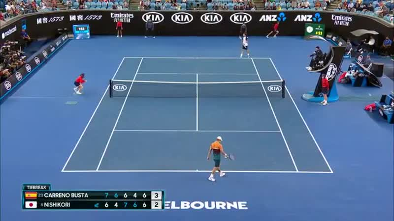 Mind Blown - - Pablo Carreno Busta turns defense into offense for the @cpaaustralia Shot of the Day. - - AusOpen