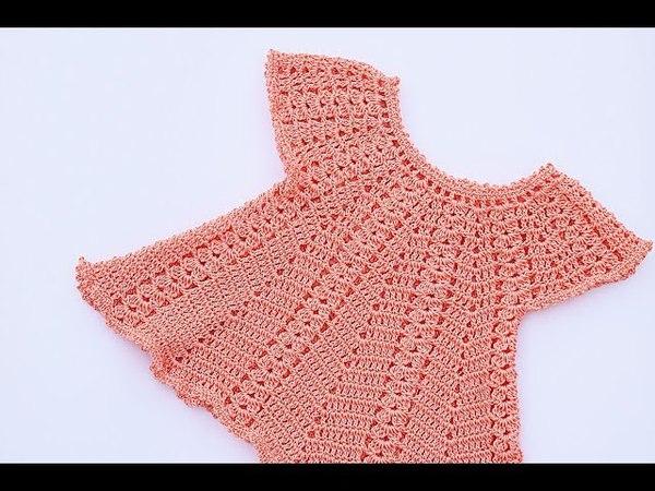 Vestido de niña a crochet muy fácil y rápido Majovel crochet