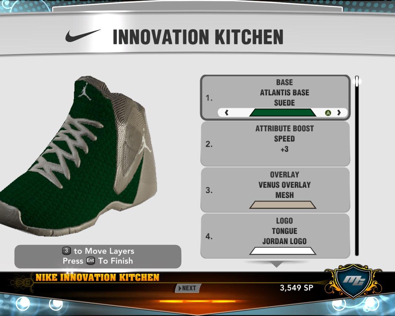 Первые мои именные кроссовки в игре нба2к13