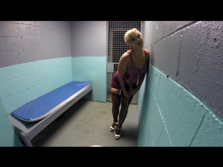 Sahrye Flirts In Holding Cell