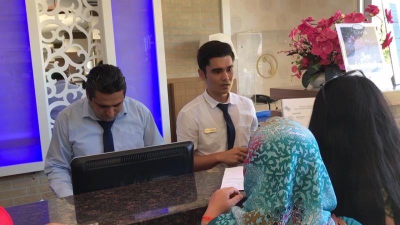 Такое обслуживание для русских в отеле Eftalia aqua resort