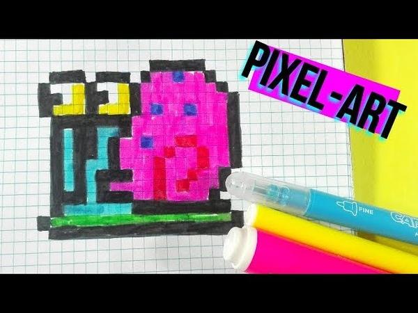 Como dibujar a Gary- BOB ESPONJA PIXEL ART