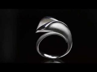 цветок каллы -золотое кольцо    flower Kala-gold ring