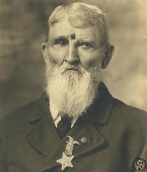 На фото - Джейкоб Миллер, ветеран гражданской войны США