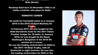 Navdeep Saini Indian Cricketer Biography With Detail