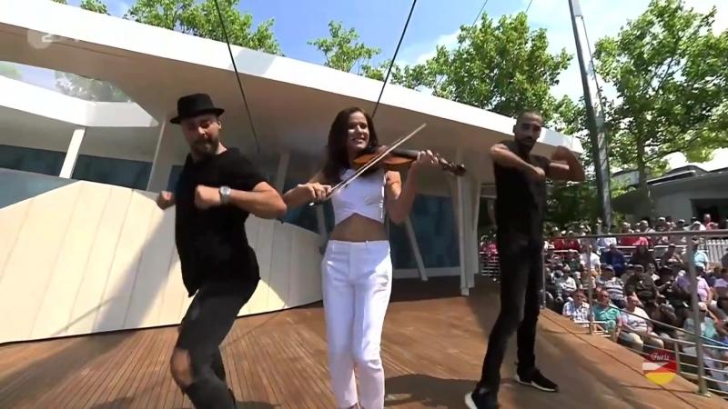 Franziska Wiese «Ich tanz im Regen» (ZDF-Fernsehgarten 15.07.2018)