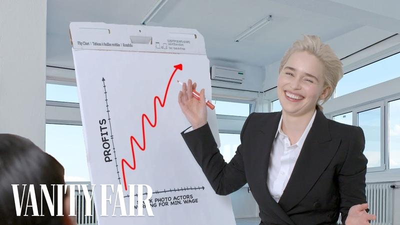 Emilia Clarke Re-Creates Stock Photos   Vanity Fair