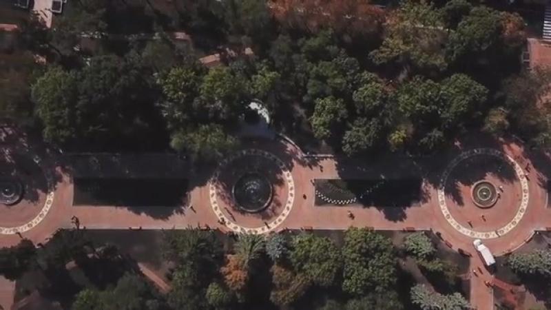 Аллея Героев с высоты Автор видео Artem Poznanski