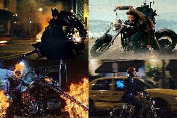 Крутые ребята ездят на мотоциклах