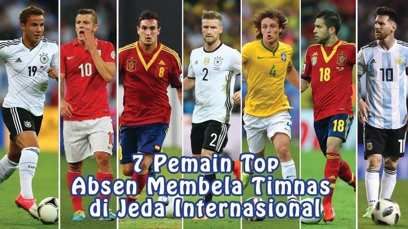 7 Pemain Top yang Absen Membela Timnas Mereka di Jeda Internasional