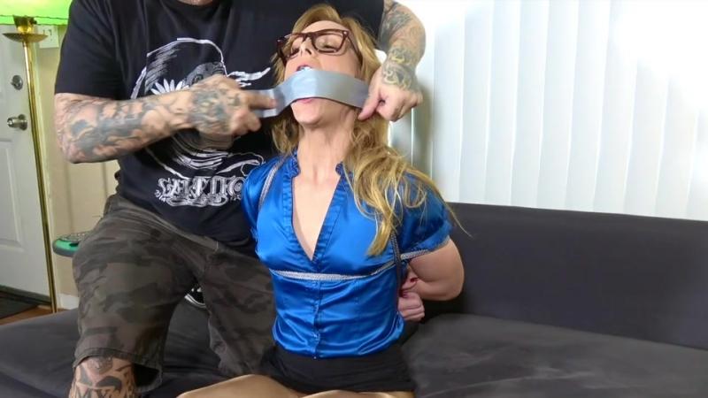 Secretary Tied Up in Rope Bondage