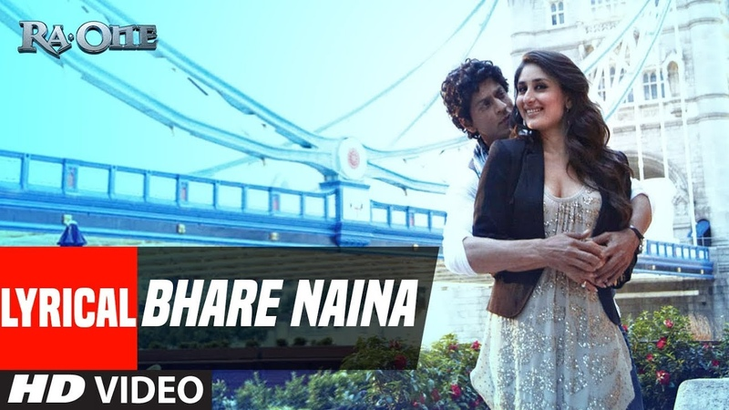 Bhare Naina With Lyrics | Ra One | ShahRukh Khan, Kareena Kapoor