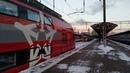 Электропоезд ЭШ2 022 Аэроэкспресс отправление в аэропорт Внуково с Киевского вокзала