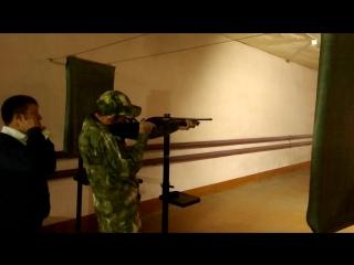 1 октября 2018 года День Сухопутных Войск.Стрельба из помпового ружья.
