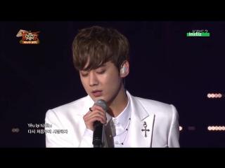 JB (GOT7) Key (SHINee) ChunJi (TEEN TOP) - Yêu Lại Từ Đầu @ Music Bank in Hanoi 150328