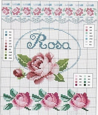 Розы для вас! Схемы вышивки.