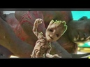 Guardians of the Galaxy Vol 2 opening scene Baby Groot dance