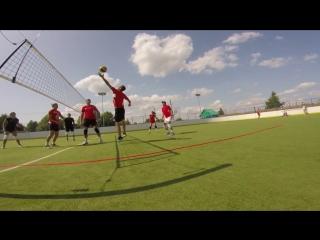 Красный Яр. Парковый волейбол.