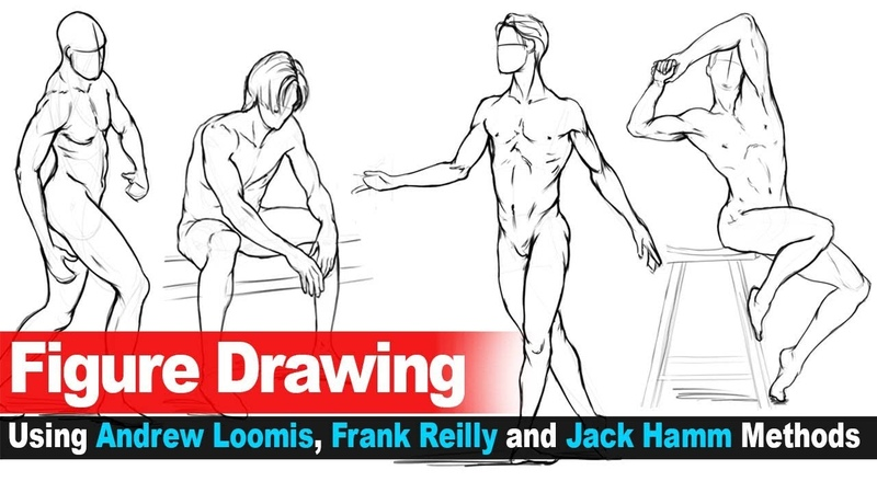 Figure Drawing no.14 (Using Andrew Loomis, Frank Reilly and Jack Hamm Methods)
