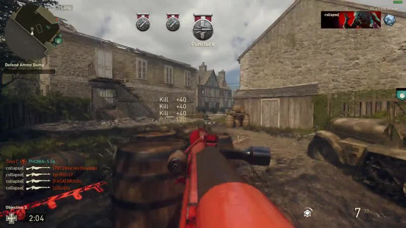 4 kills 1 bullet with PTRS Anti-Tank Sniper Rifle! COD WWII
