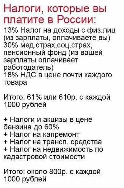 acf9be466da5 Фб Налоги, которые вы платите в России