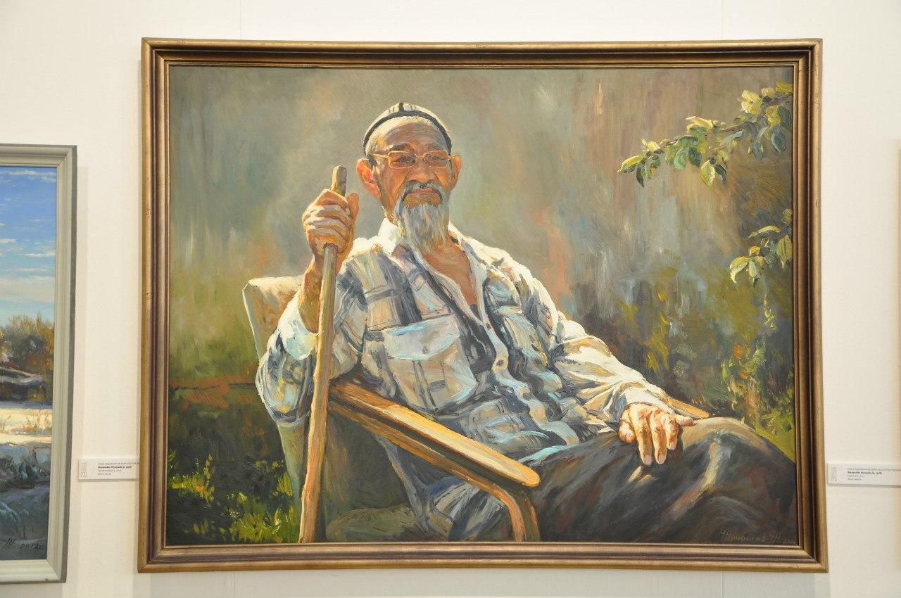 Союз художников Кыргызской Республики  Жакшыбек Жунушев (р. 1978)  Сакин-ата. 2012  Холст, масло