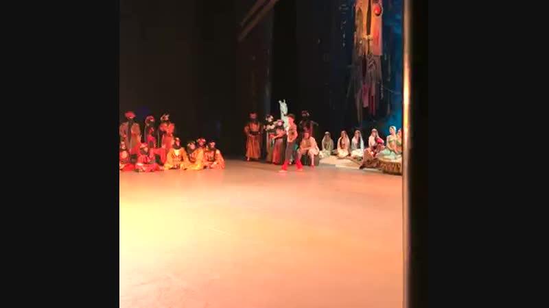 17.10.2018 Mariinsky, Le Corsaire, Ramanbek Beishenaliev, Lankedem Coda (stage video) Корсар Раманбек Бейшеналиев, Кода Ланкедем